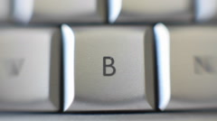 The capital letter B on a keyboard brought into focus. Stock Footage