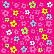 Floral pink ornament - stock illustration
