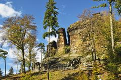 Bohemian Switzerland, Elbe Sandstone Mountains, Czech Republic, Europe Stock Photos