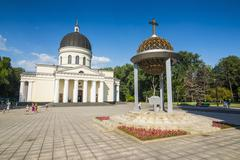 Nativity cathedral in the center of Chisinau capital of Moldova, Eastern Europe - stock photo