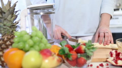 Fruit smoothie blender 888 Stock Footage