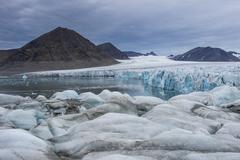 Stock Photo of Huge glacier in Hornsund, Svalbard, Arctic, Norway, Scandinavia, Europe