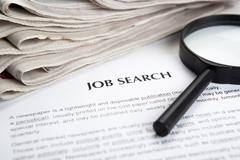 document with the title of job search - stock photo