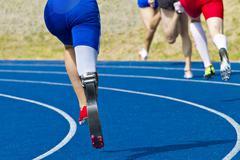 Handicapped sprinter Stock Photos