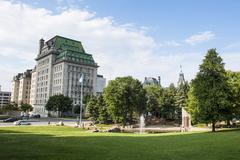 Park in Quebec City, Quebec, Canada, North America - stock photo