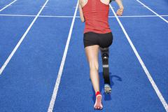 handicapped sprinter - stock photo