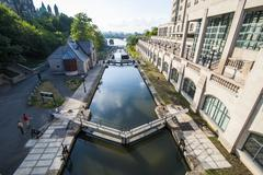 Rideau Canal, Ottawa, Ontario, Canada, North America - stock photo
