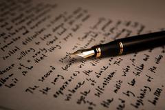 Fountain pen literature Stock Photos