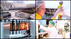 Pharmaceutical Manufacturing Stock Footage