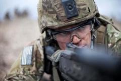 75th Ranger Regiment task force aims to battlefield (editorial) - stock photo