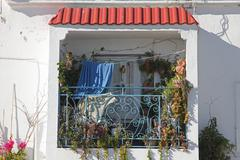 Botanical balcony, Tunisia Stock Photos