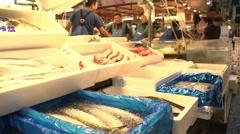 Tokyo Fish Market Stock Footage