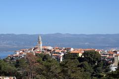 City of Vrbnik, Adriatic island Krk Croatia - stock photo