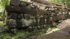 Nan Madol Ruins on the Micronesian Island of Pohnpei Stock Footage