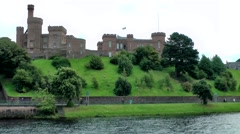 Scotland city of Inverness 015 castle hill at Ness riverfront Stock Footage
