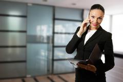 Modern business woman. Stock Photos