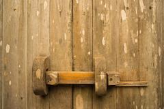 Teak wood traditional door Stock Photos