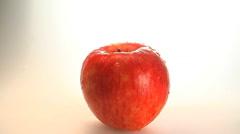 Slow zoom on rotating Gala apple Stock Footage