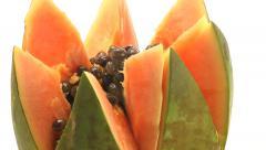 Papaya rotating with zoom Stock Footage