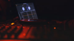 music at the desk console music board  night club - stock footage
