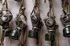 Photo of the WW II gas mask Stock Photos
