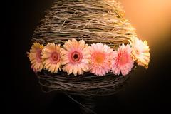 Flower Arrangements of gerbera Stock Photos