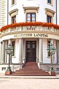 Hessischer Landtag in Wiesbaden - stock photo