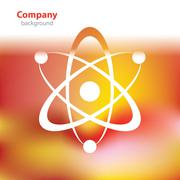 Abstract colorful background - atomic Structure - Science and research Stock Illustration