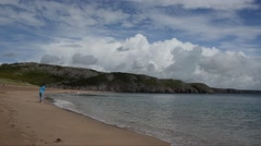 Beach near  Temby in the Pembrokeshire Coast National Park, UK, Stock Footage