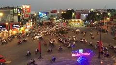Crazy traffic at Saigon Stock Footage