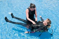 Women Divers Stock Photos