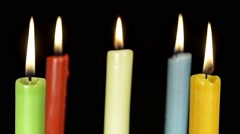 blow out candles - stock footage