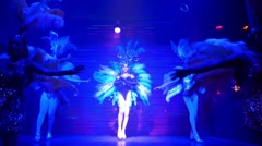 Transvestites or Ladyboys in Fancy Dress in Travesty Show Stock Footage