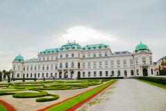 Belvedere palace in Vienna, Austria in the morning - stock photo