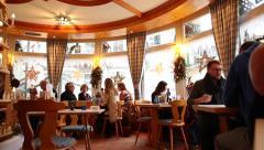 Lowenbrau restaurant in Baden Baden, Germany. Stock Footage