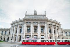 Burgtheater building in Vienna, Austria Stock Photos