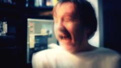 Crazy lunatic  devil man time lapse - stock footage