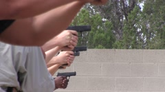 Soldiers in pistol instruction  Stock Footage