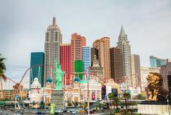 Las Vegas boulevard in the morning Stock Photos