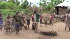 Dancing Pygmies - Uganda, East Africa - stock footage