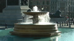 Fountain Trafalgar Square London Stock Footage