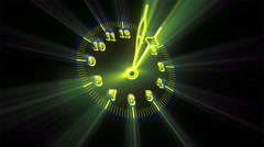 Yellow Bright Clock Time Lapse 12 Hours In 12 Seconds Stock Footage