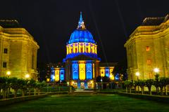 San Francisco city hall at night time - stock photo