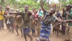 Dancing Pygmies - Uganda, East Africa Stock Footage