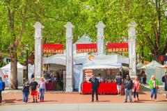 Portland Saturday Market Stock Photos