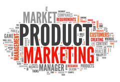 Word Cloud Product Marketing Stock Illustration