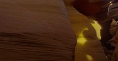 5K Pan of Antelope Canyon Stock Footage