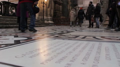 People walking in the Milan Cathedral Stock Footage