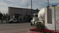 Cement Truck Leaves Academy of Television Arts & Sciences Stock Footage