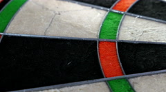 Close dolly on a dart board, 4K Stock Footage